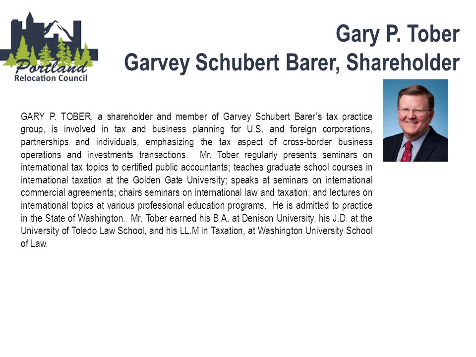 Garvey Schubert Barer, Shareholder