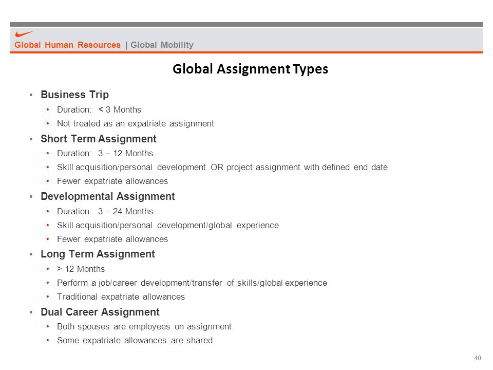 Global Assignment Types