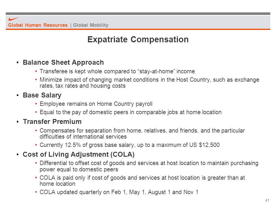 Expatriate Compensation