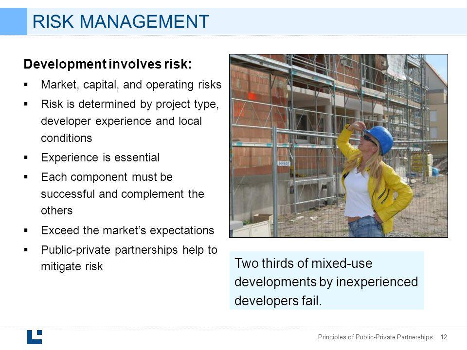 RISK MANAGEMENT Development involves risk: