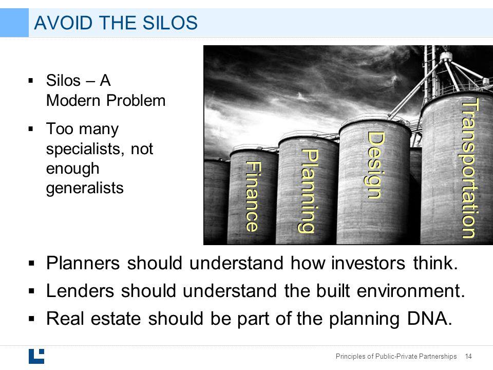 Transportation Design Planning Finance AVOID THE SILOS