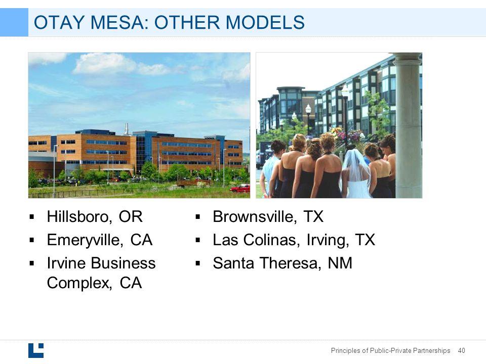 OTAY MESA: OTHER MODELS