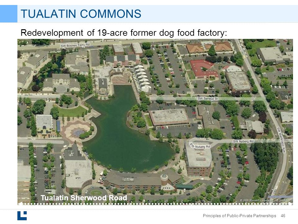 TUALATIN COMMONS Redevelopment of 19-acre former dog food factory: