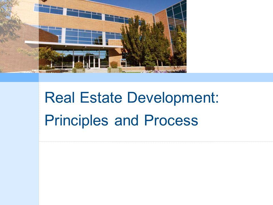 Real Estate Development: