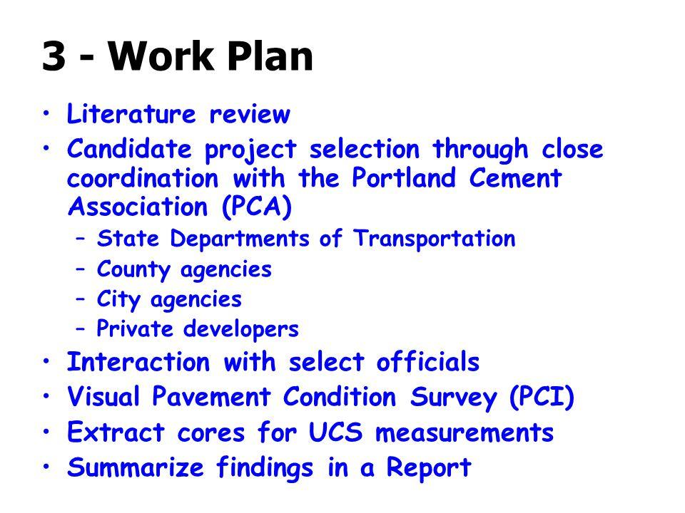 3 - Work Plan Literature review