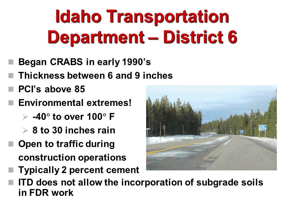 Idaho Transportation Department – District 6