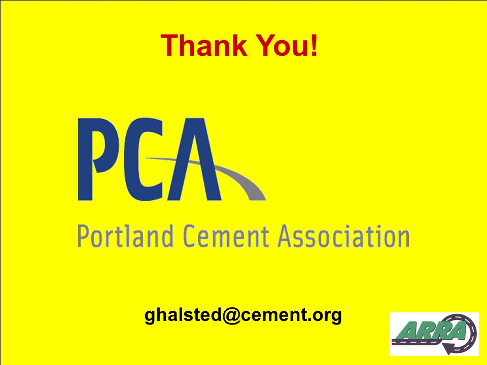 Thank You! ghalsted@cement.org