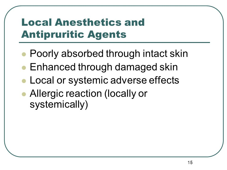 Local Anesthetics and Antipruritic Agents