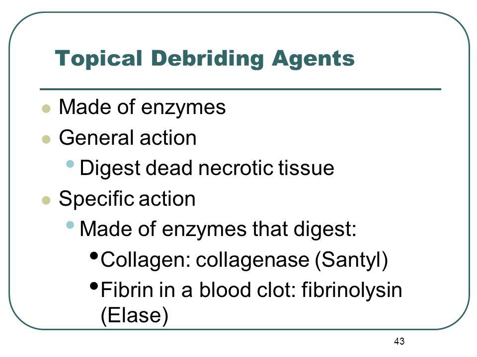 Topical Debriding Agents