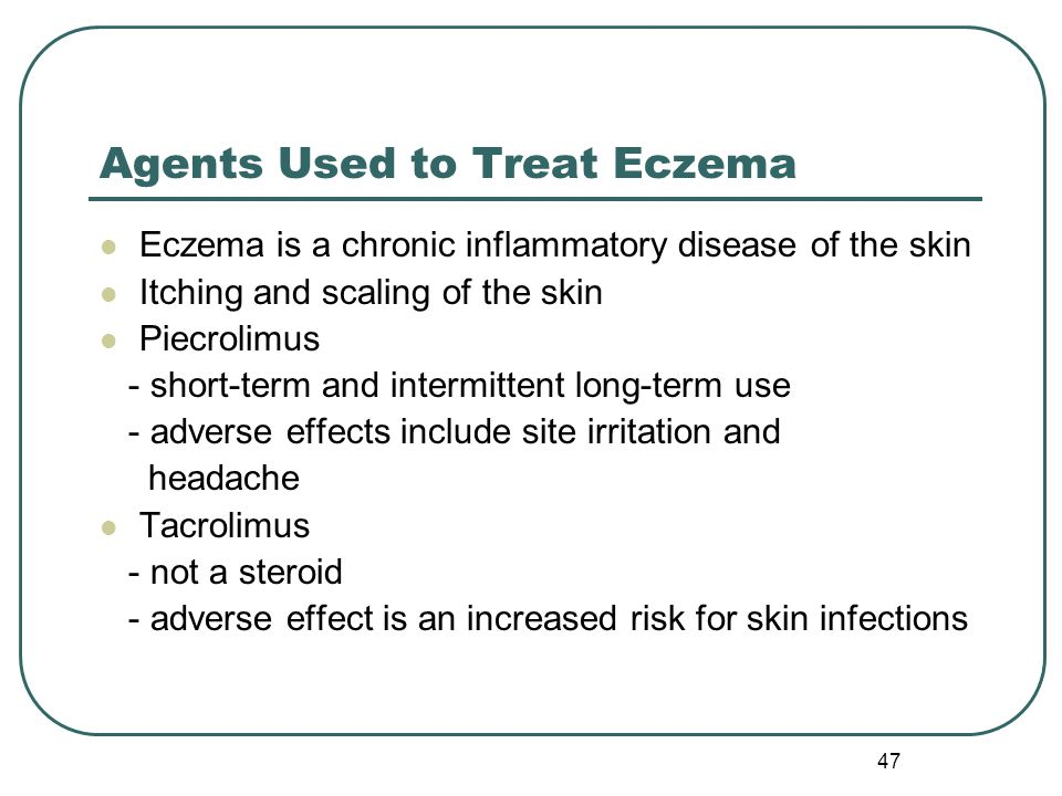 Agents Used to Treat Eczema