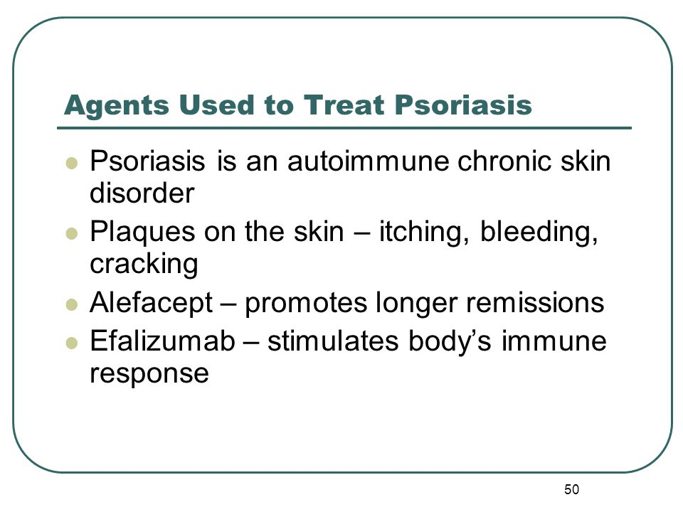 Agents Used to Treat Psoriasis