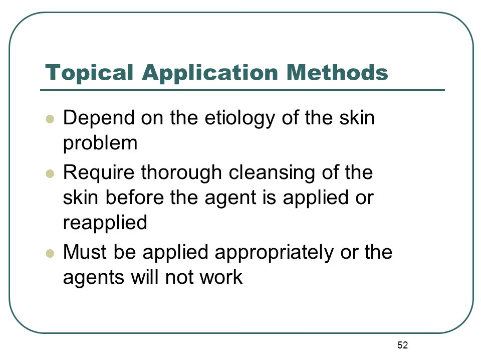 Topical Application Methods