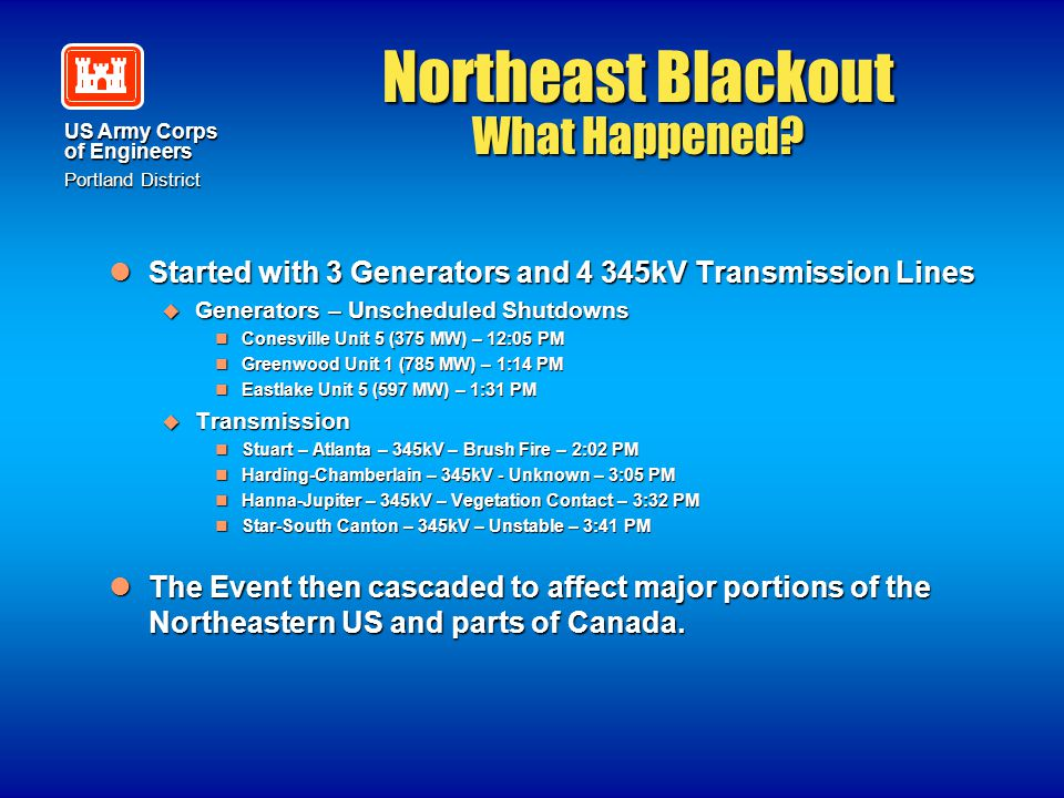 Northeast Blackout What Happened