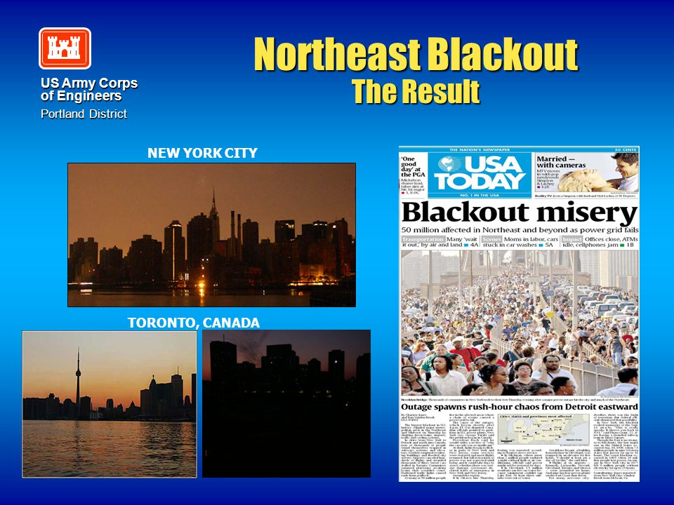 Northeast Blackout The Result