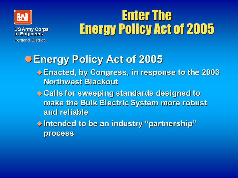 Enter The Energy Policy Act of 2005
