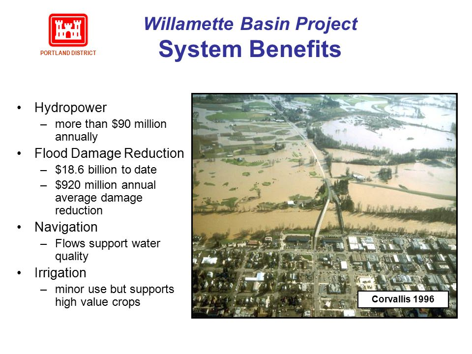 Willamette Basin Project System Benefits