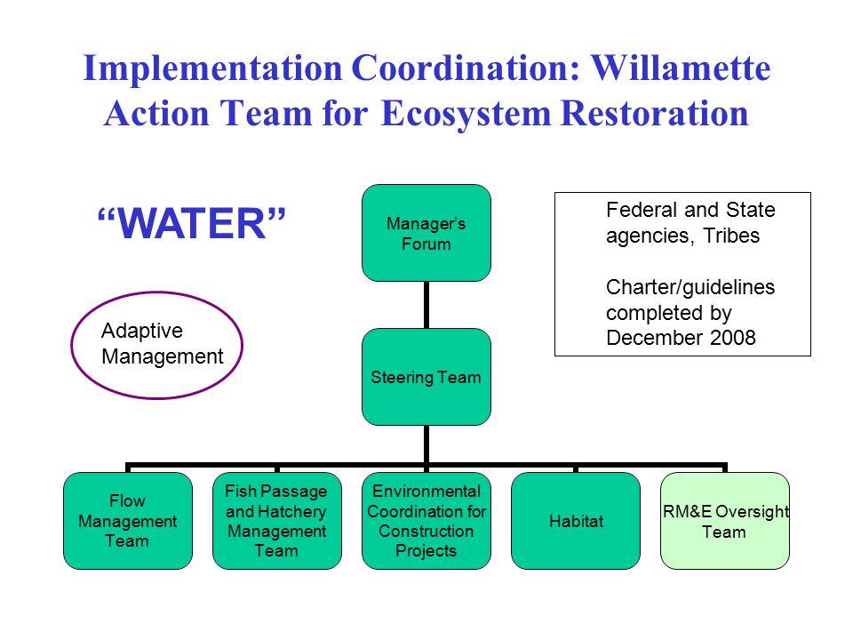 Implementation Coordination: Willamette Action Team for Ecosystem Restoration