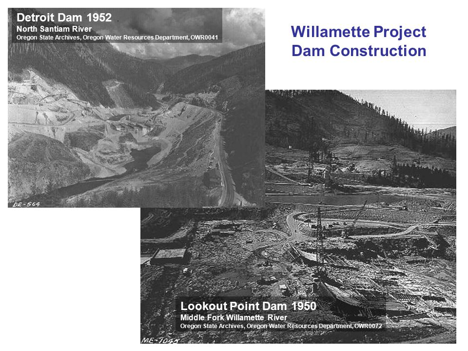 Willamette Project Dam Construction