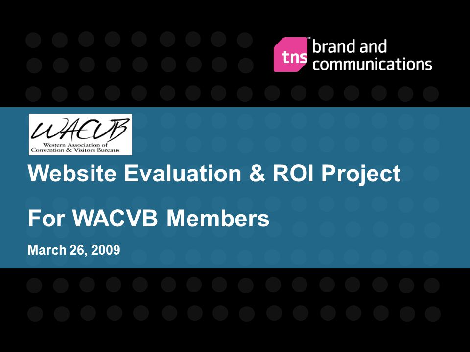 Website Evaluation & ROI Project For WACVB Members