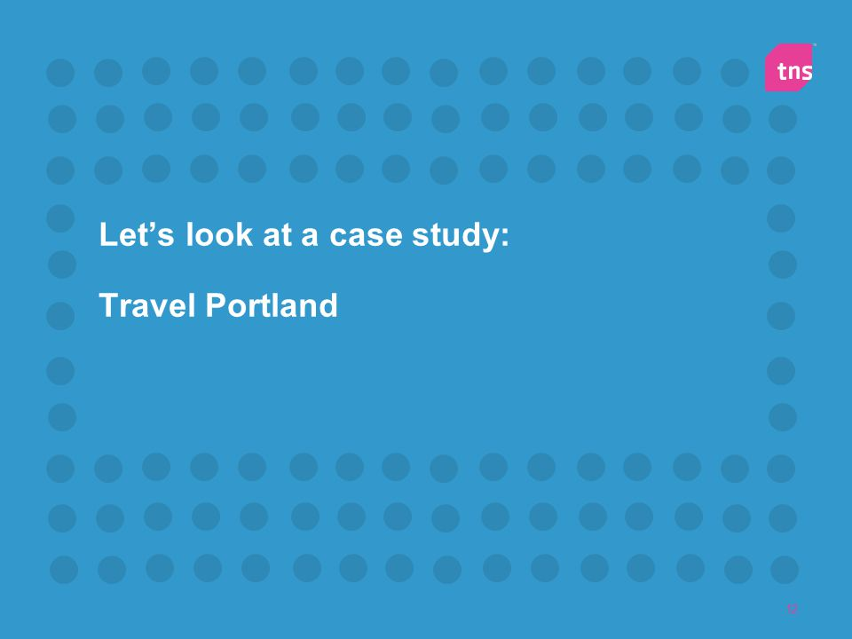 Let's look at a case study: Travel Portland