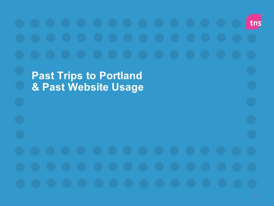 Past Trips to Portland & Past Website Usage
