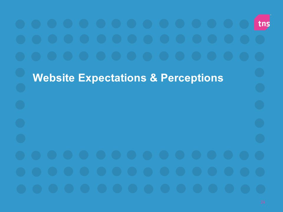 Website Expectations & Perceptions