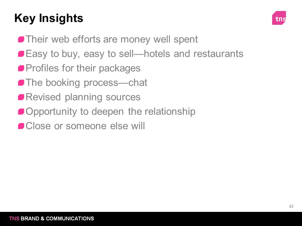 Key Insights Their web efforts are money well spent