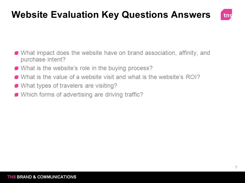 Website Evaluation Key Questions Answers