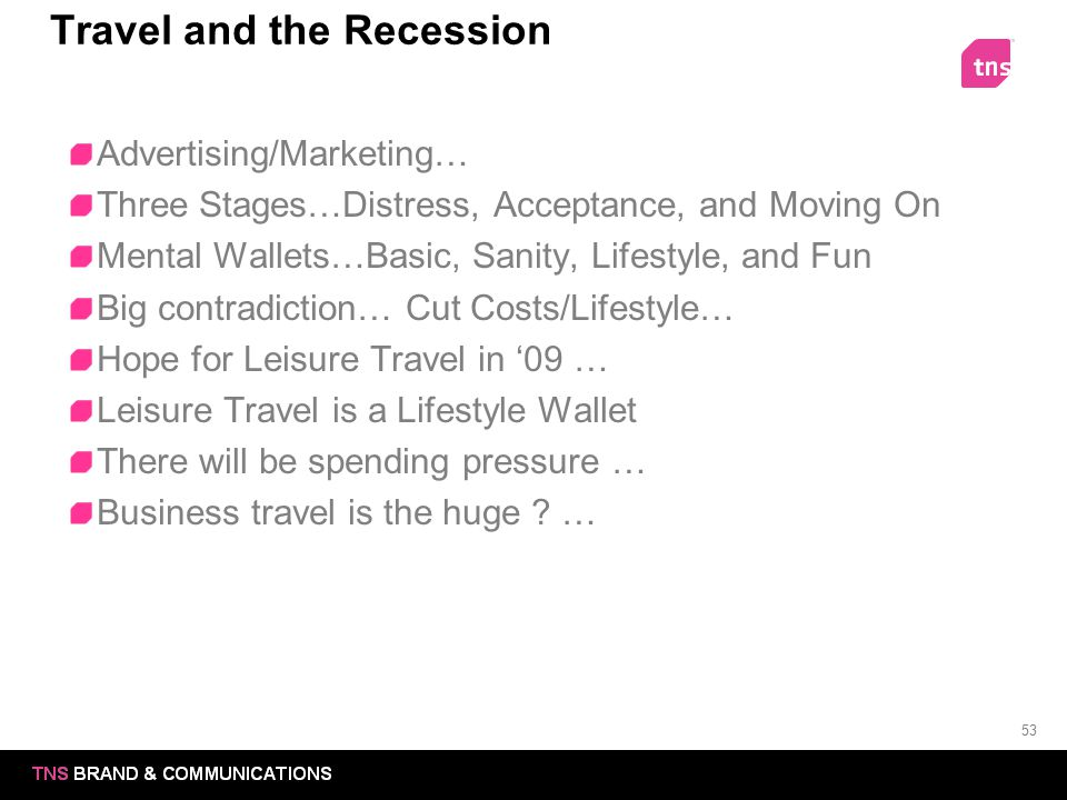 Travel and the Recession