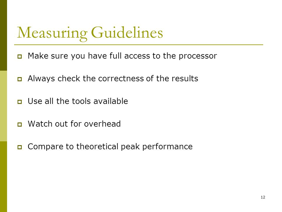 Measuring Guidelines Make sure you have full access to the processor