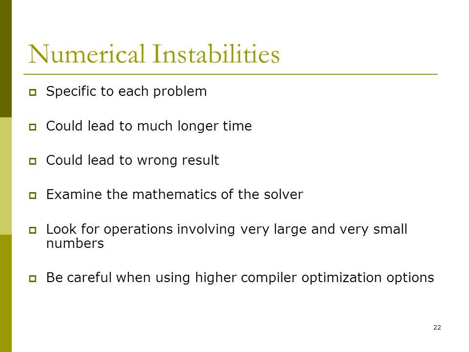 Numerical Instabilities
