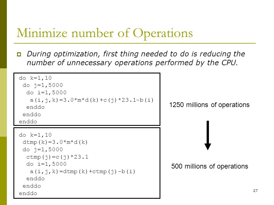 Minimize number of Operations