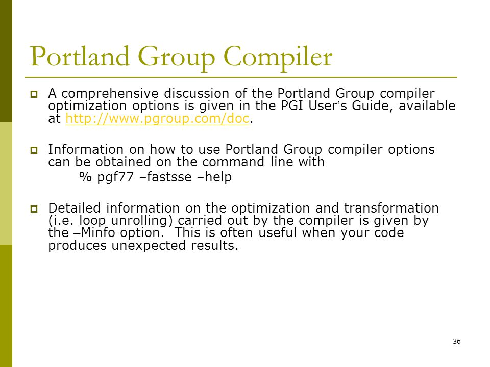 Portland Group Compiler