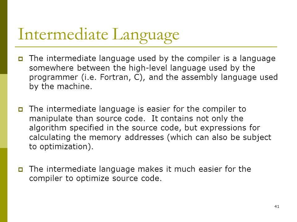Intermediate Language