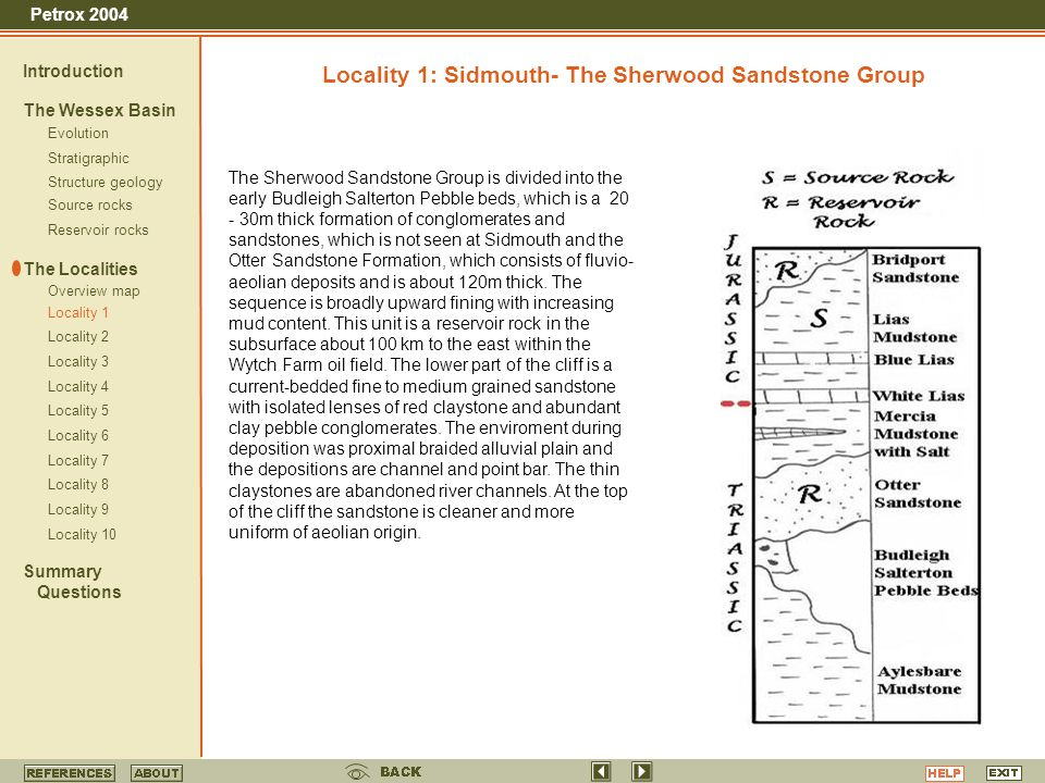 Locality 1: Sidmouth- The Sherwood Sandstone Group
