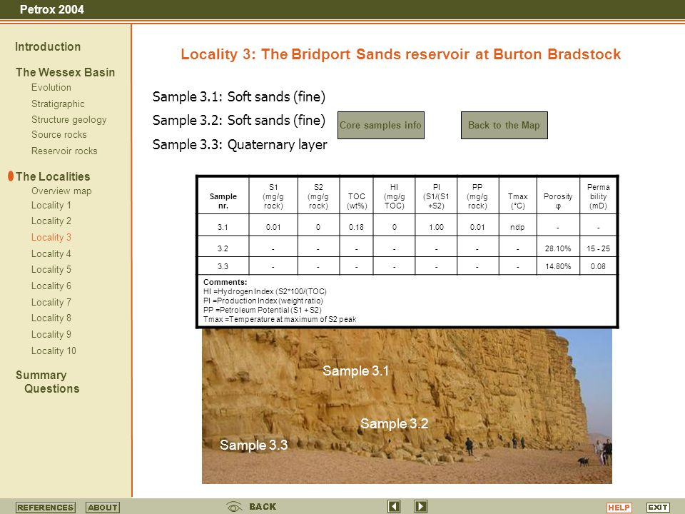 Locality 3: The Bridport Sands reservoir at Burton Bradstock