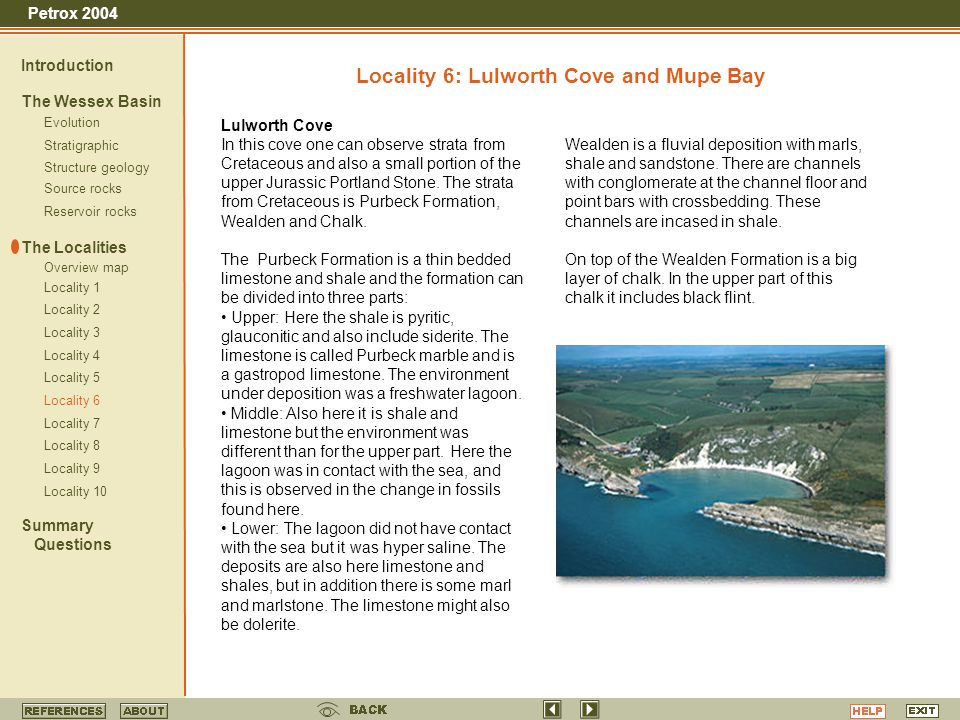 Locality 6: Lulworth Cove and Mupe Bay