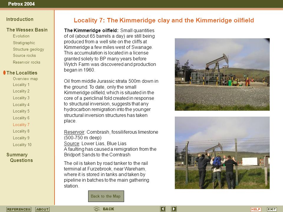 Locality 7: The Kimmeridge clay and the Kimmeridge oilfield