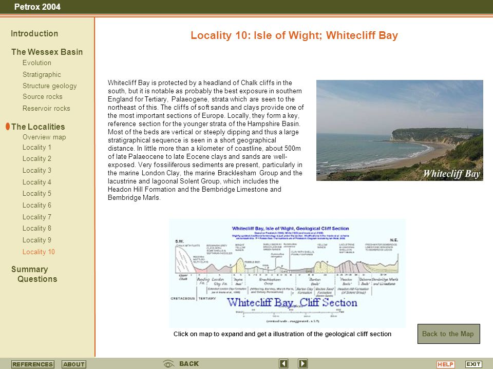 Locality 10: Isle of Wight; Whitecliff Bay