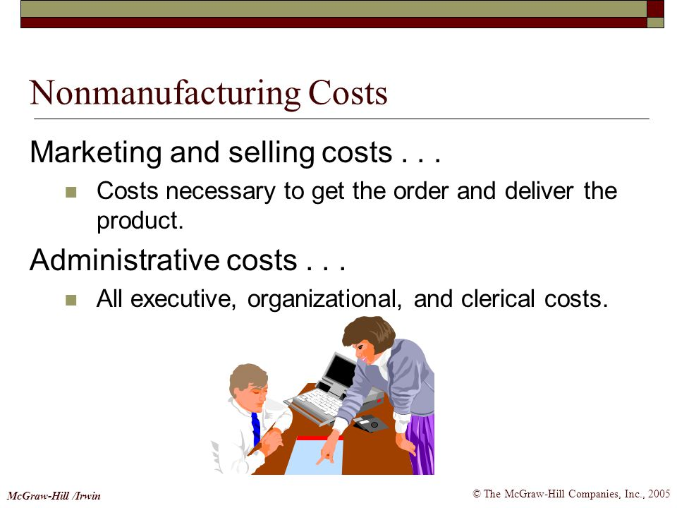 Nonmanufacturing Costs