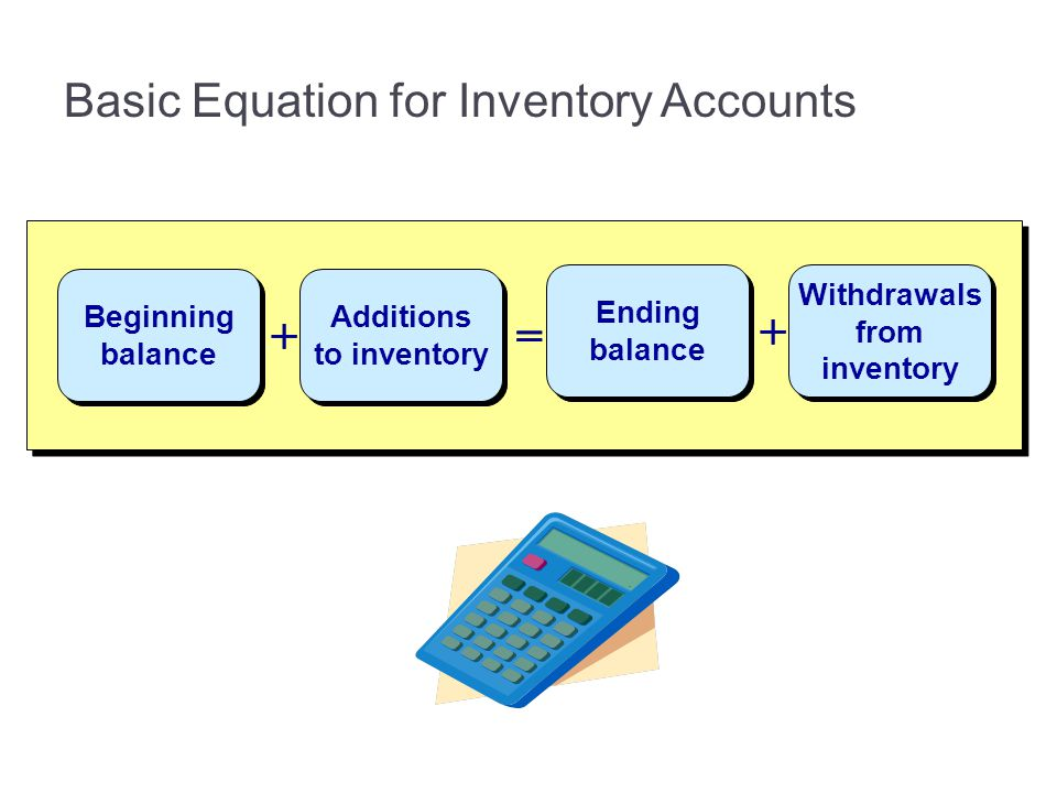 Basic Equation for Inventory Accounts