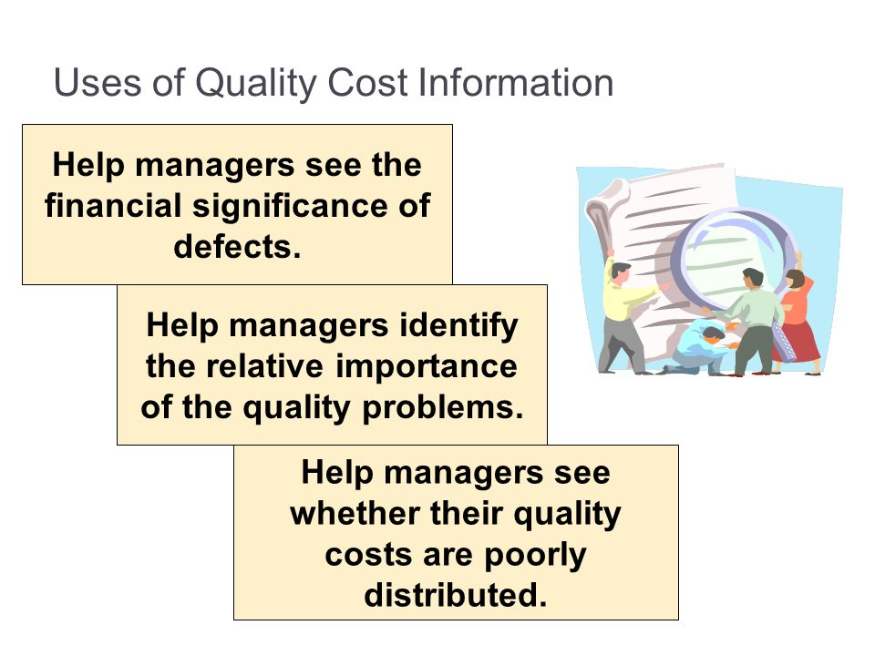 Uses of Quality Cost Information