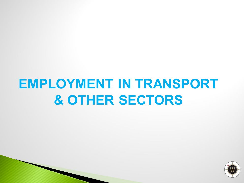 EMPLOYMENT IN TRANSPORT & OTHER SECTORS