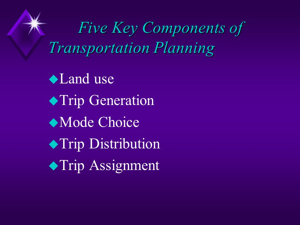 Five Key Components of Transportation Planning