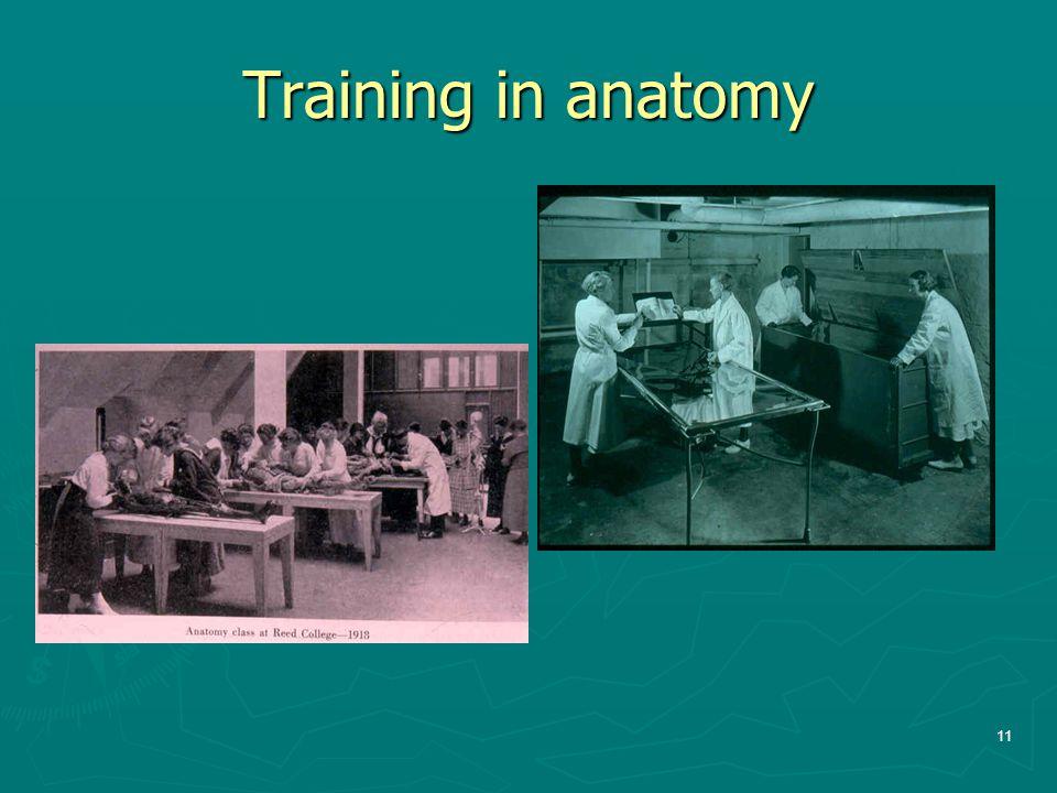 Training in anatomy