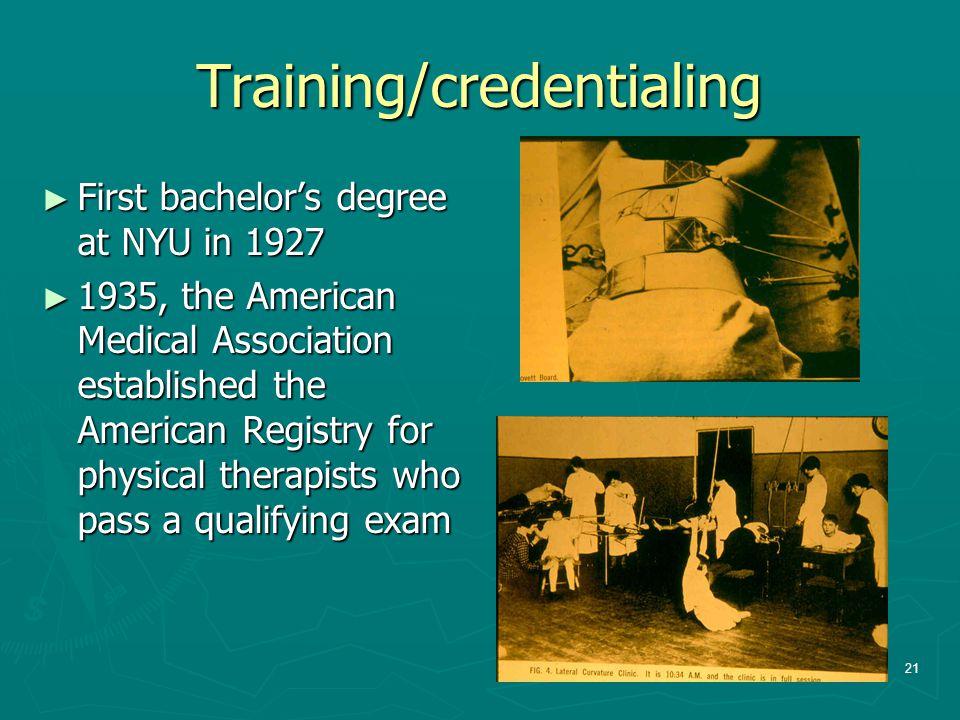 Training/credentialing