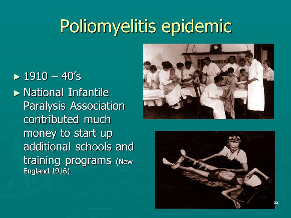 Poliomyelitis epidemic