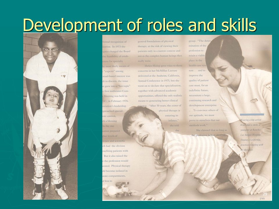Development of roles and skills