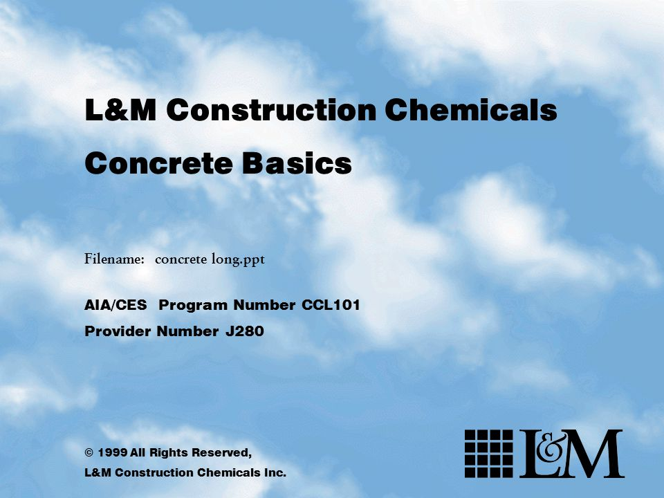 L&M Construction Chemicals Concrete Basics