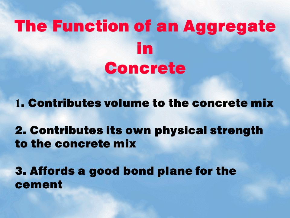 The Function of an Aggregate